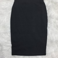 Basic Pencil Skirt: Slate