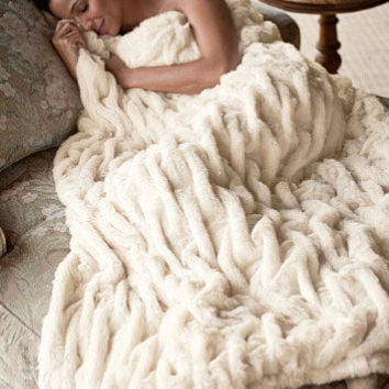 Paris Faux Fur Throw - Faux Fur Throw, Reversible Throw, Soft Throw | Soft Surroundings