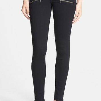 'Transcend - Edgemont' Ultra Skinny Jeans (Black Shadow)