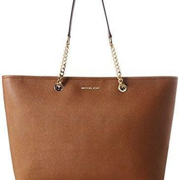Michael Kors Women's Jet Set Travel Medium Saffiano Leather Tote Bag