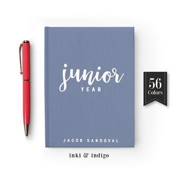Junior Year Personalized Journal, Custom Writing Journal, Hardcover Notebook, High School, College Gift, Memory Book, Gift For Students