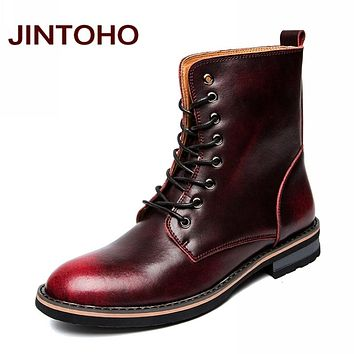 Leather Boots Winter Warm Men Shoes Cow Split Rubber Boots Glitter Italian Men Boots