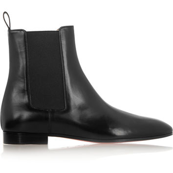 christian louboutin round-toe ankle booties
