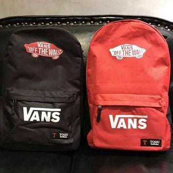 VANS Canvas double shoulder backpack college students in the wind of the school children's schoolbag youth fashion bag G-A-GHSY-1
