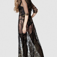 Lace Peignoir , dressing gown, robe, french lace
