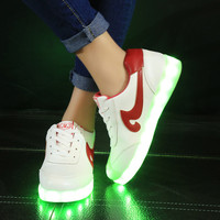Colorful Bright Creative Summer Lightning Shoes Stylish Casual Sports Noctilucent Lights [6734572935]