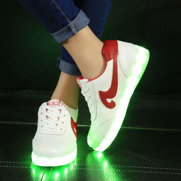 Colorful Bright Creative Summer Lightning Shoes Stylish Casual Sports Noctilucent Lights [4964957444]