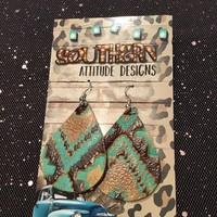 Hand Made Leather Earrings