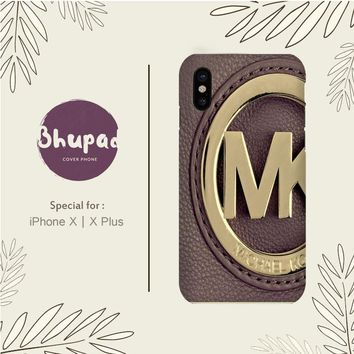 MICHAEL KORS LOGO PURPLE IPHONE X