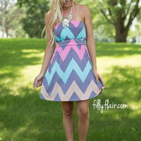 Actually Perfect Chevron Dress