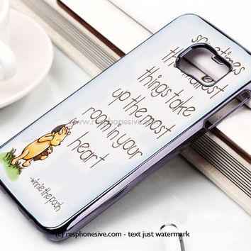 Disney Winnie The Pooh Quotes Samsung Galaxy S6 and S6 Edge Case