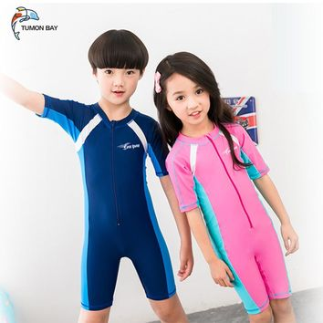 swimsuit kids One Piece Boys Girls Swimsuits Kids Bathing Suits Baby Swimsuit Girl Children Beach Wear Diving Swimming Suit