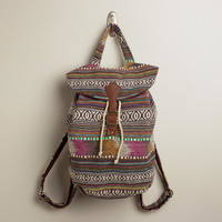 Brown and Pink Carpet Backpack - World Market
