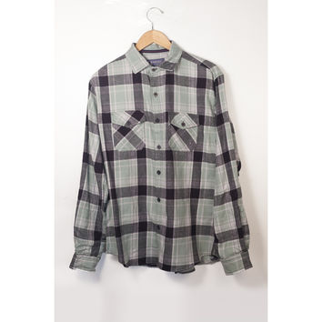 Counter Intelligence Green Plaid Flannel