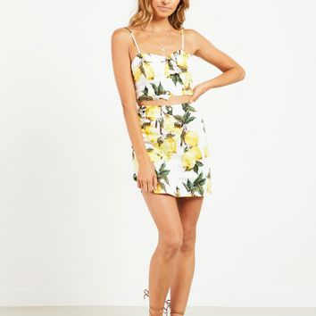 Sweetest Thing Skirt - Lemon Print