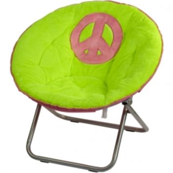 Peace Sign Saucer Chair | Girls Room Accessories Room Decor | Shop Justice