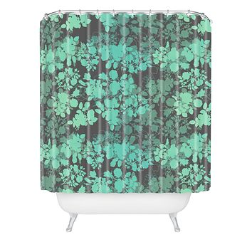 Gabi Audrey Teal Shower Curtain
