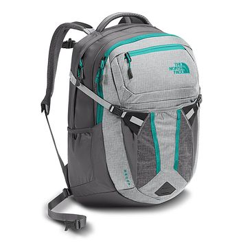 Women's Recon Backpack in Glacier Grey White Heather & Pool Green by The North Face