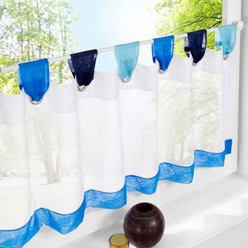 multicolour table top yarn kitchen Half-curtains,roman a small coffee tulle,decoration short door curtain