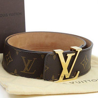 Louis Vuitton men and women tide letter printing belt F