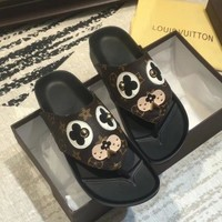 Louis Vuitton LV Women Fashion Leather Slipper Flats Shoes