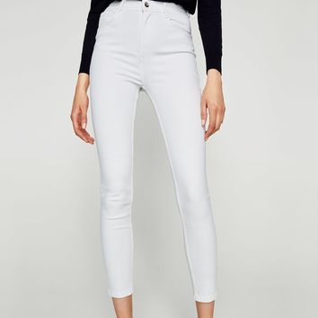 HIGH WAIST RIPPED JEGGINGS