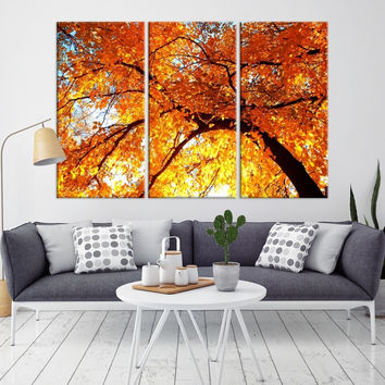 17721 - Forest Wall Art- Autumn Canvas Print- Forest Canvas- Forest Canvas Art- National Art Print- Canvas Print- Large Wall Art-
