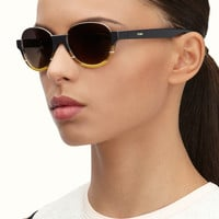 FENDI | ATELIER Half-moon sunglasses