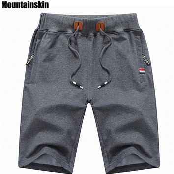 Mountainskin   Solid Men's Shorts 6XL Summer Mens Beach Shorts Cotton Casual Male Shorts homme Brand Clothing SA210