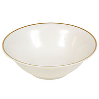 Bulk Gold-Rimmed White Stoneware Bowls, 7 in. at DollarTree.com