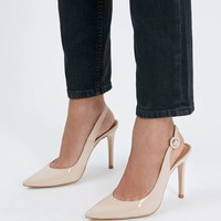 GOLDY Slingback Court Shoes - Shoes