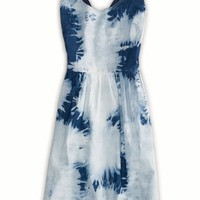 AEO Women's Tie-dyed Denim Dress (Sky High)