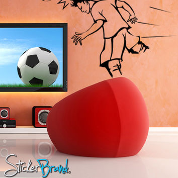 Vinyl Wall Decal Sticker Soccer Football Player Hit #GFoster128