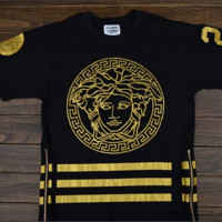 Gold Medusa Head Tee