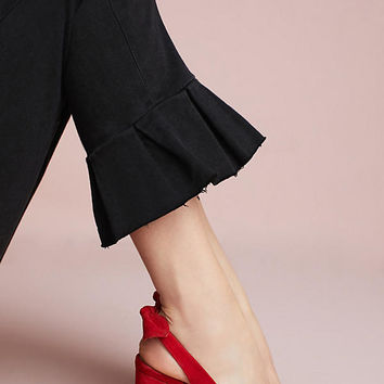 Anthropologie Tied Slingback Heels