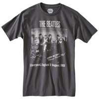 Beatles on Stage Men's Graphic Tee - Charcoal