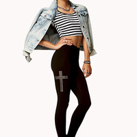 Studded Cross Leggings | FOREVER 21 - 2073027111