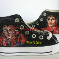 thriller Michael Jackson shoes Hand-painted converse all star Shoes sneaker in memory of king of pop