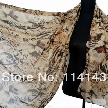 Fashion Tiger Animal Print Women's Scarf Shawl Wrap 180*100cm, Free Shipping