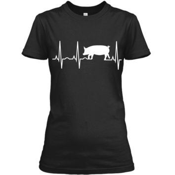 Pig Gift Shirt - Best Pig Heartbeat Tee for Women Men Kids Ladies Custom
