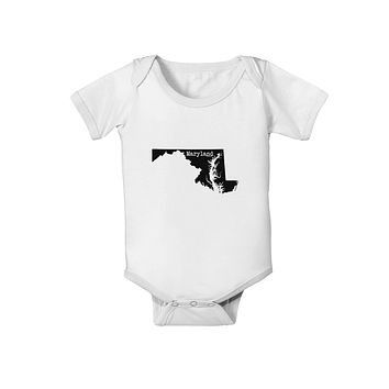 Maryland - United States Shape Baby Romper Bodysuit by TooLoud