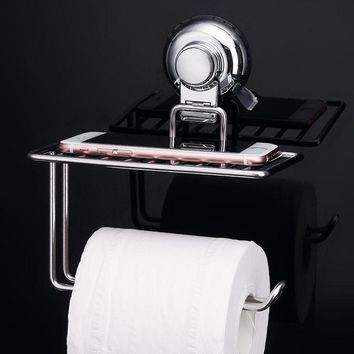 304 Stainless Steel Roll Towel Tissue Paper Holder Innovate Storage Toilet Tissue Boxes Set Bathroom Accessories Wall Mount