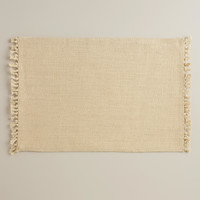 Ivory Herringbone Placemats, Set of 4 - World Market