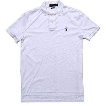 Polo Ralph Lauren Mens Ribbed Trim Soft-Touch Polo Shirt