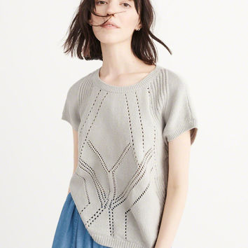 Womens Short Sleeve Crew Sweater | Womens Tops | Abercrombie.com