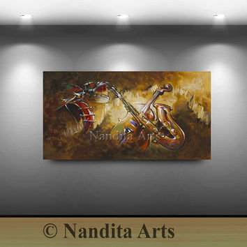 Music and Sound, Violin, GUITAR ART sale Contemporary Modern Paintings Large Abstract Modern Art Gallery Online Art from Original Art