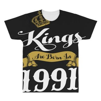 kings are born in 1991 All Over Men's T-shirt