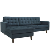Empress Modern Left-Facing Upholstered Sectional Sofa