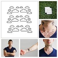 Clouds - temporary tattoo (Set of 2)