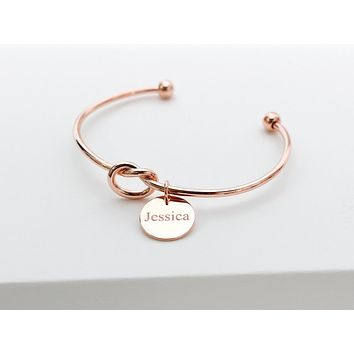Personalized Knot Cuff